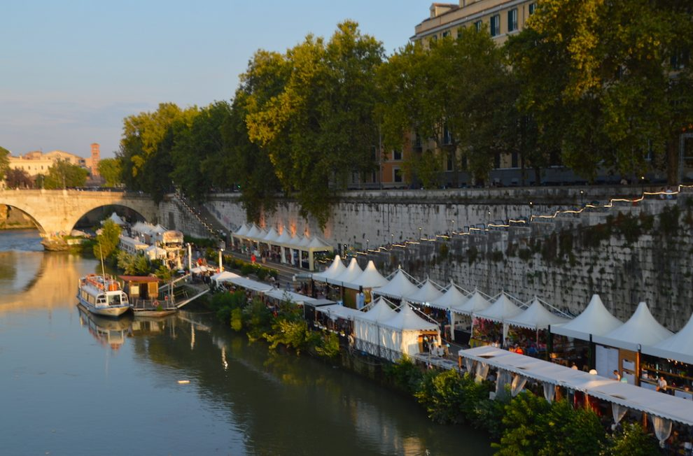 Evening light at Lungo il Tevere, Rome