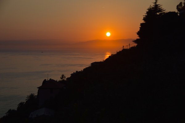 Sunset along the Ligurian Coast
