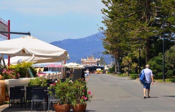The promenade in Bordighera Italy