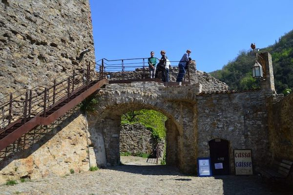 Dolceacqua Castello entrance and walkway to the ruins