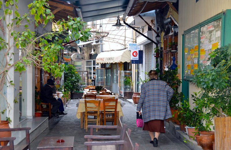 Everyday life in Mytilene Lesbos Greece