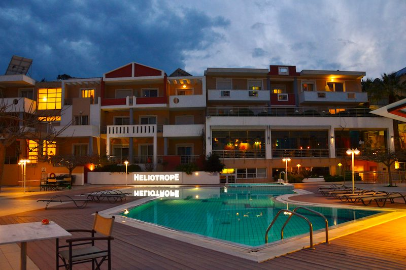 Heliotrope Hotel near the airport in Mytilene Lesbos Greece