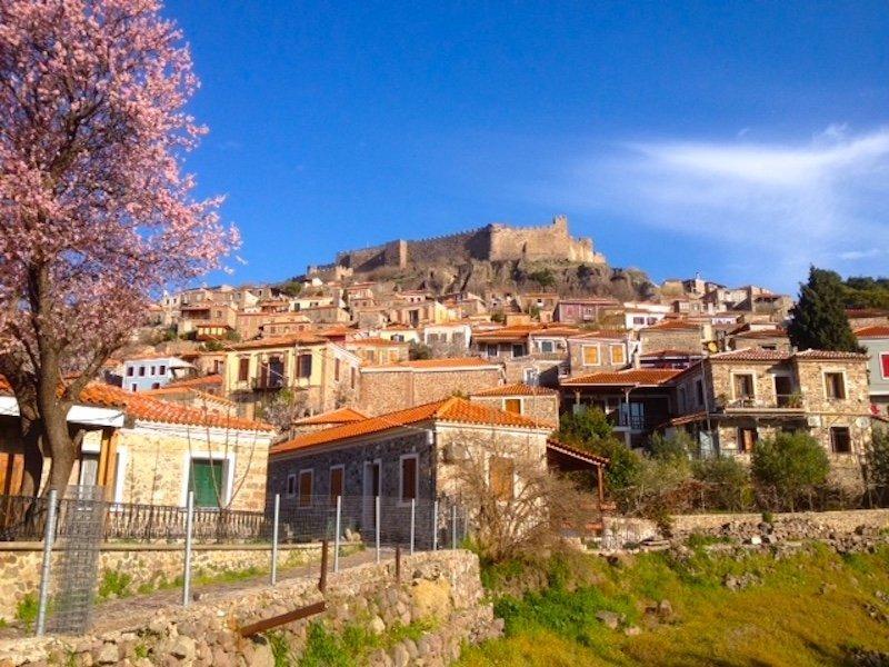 Village of Molyvos Lesbos Greece