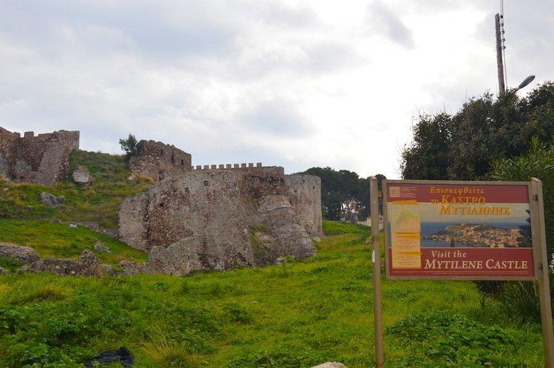 Mytilene Castle Lesbos Greece