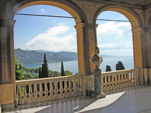 View from terrace of Palazzo Hanbury in Ventimiglia