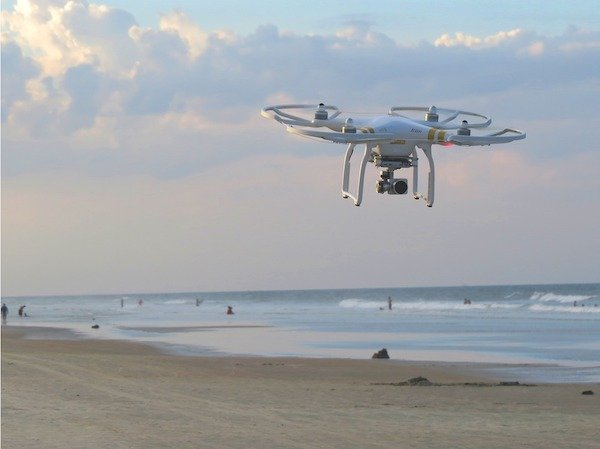 Drone on the beach