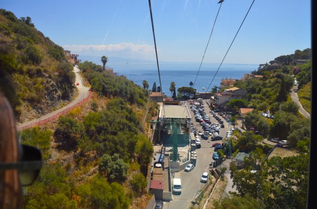 Funicular from Taormina to Mazzaro on the sea