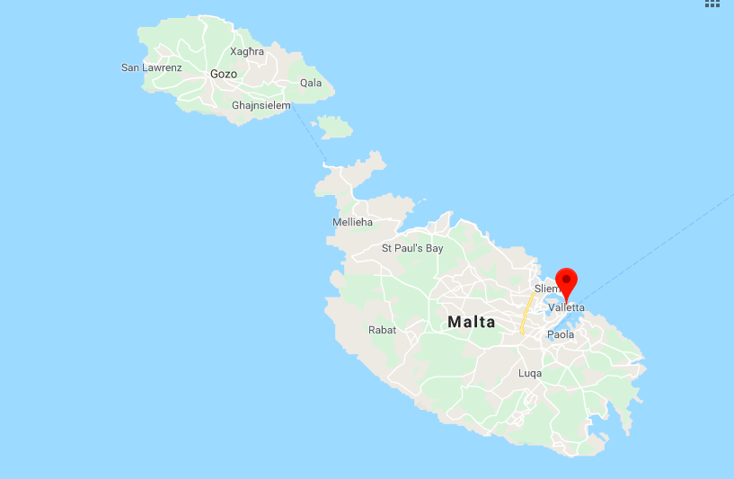 Map of Malta, Gozo, Comino