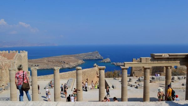 Lindos on Rhodes Island Greece