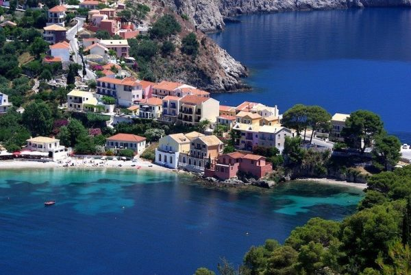 Assos Bay Kefalonia Island Greece