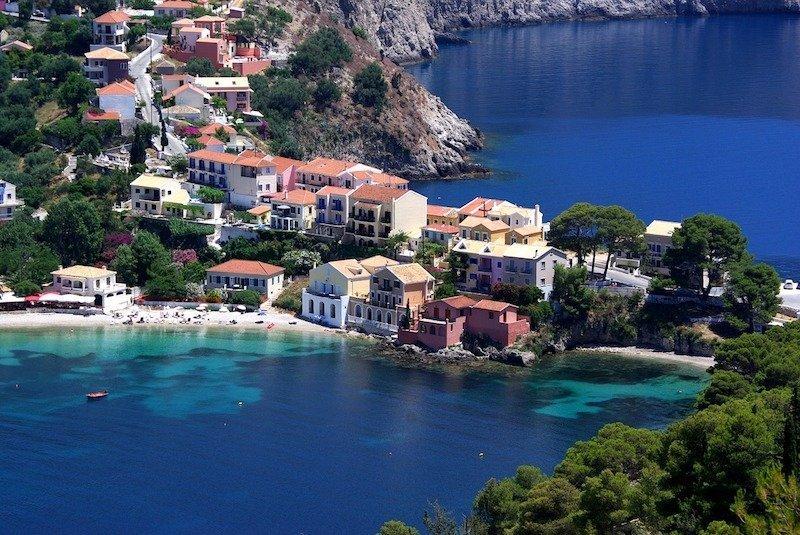 Assos Bay Kefalonia Greece