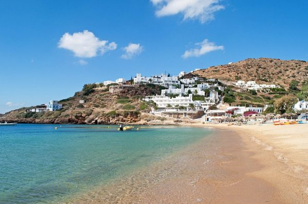 Mylopotas Beach IOS island Greece