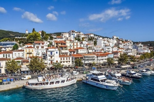 Best Greek island for family travel on Skiathos