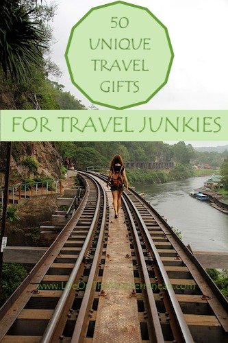 Unique travel gifts for someone going traveling - woman on rails