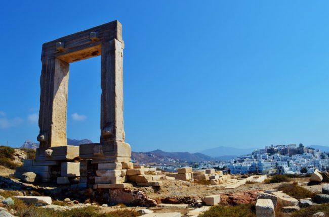 Portara monument on Naxos Greece