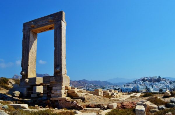 Portara monument on Naxos Greece