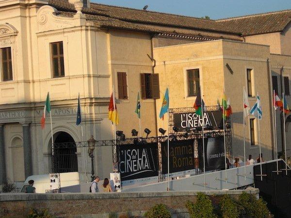 Isola del Cinema at Lungo Il Tevere Rome Italy