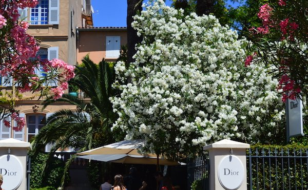 Best instagram spots on the cote d'azur are in front of Dior in St Tropez
