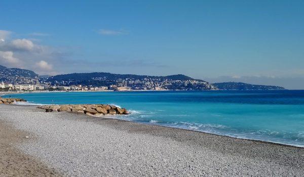 Empty beach in Nice France