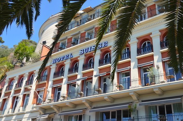 Hotel Suisse is at the base of the Chateau of Nice