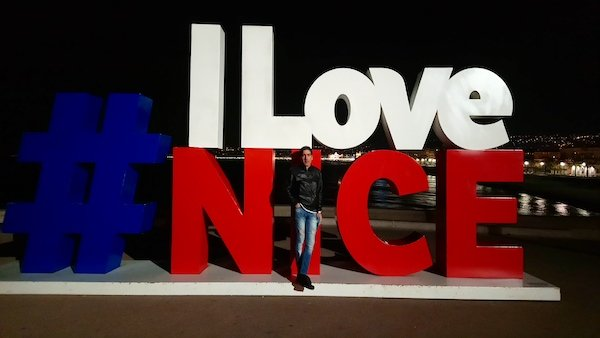 best instagram spots on the cote d'azur - the I Love Nice sign on the Promenade