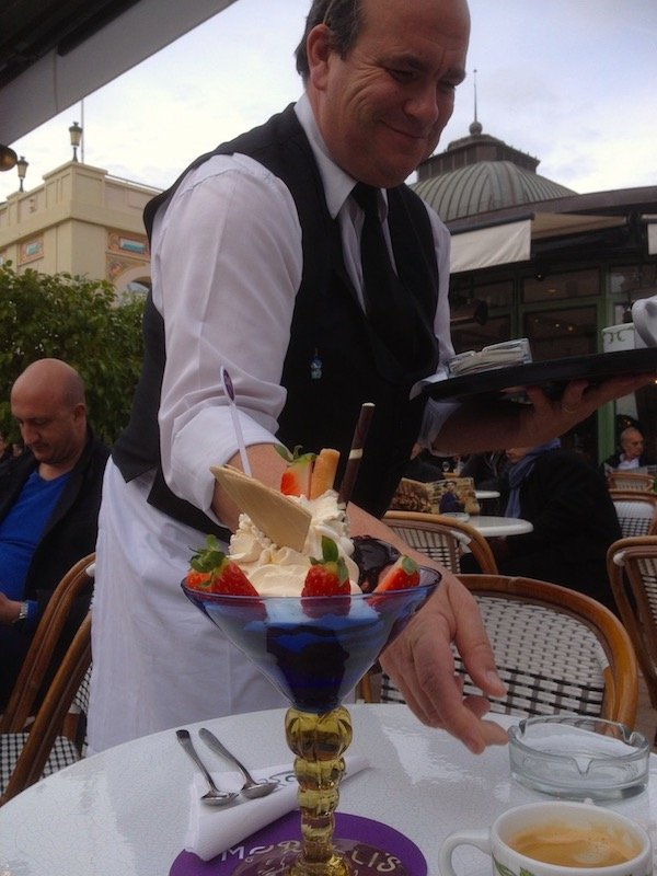 Ice Cream at the Cafe de Paris, Monaco