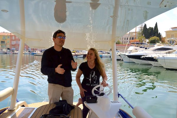 Learning to drive a solar powered boat