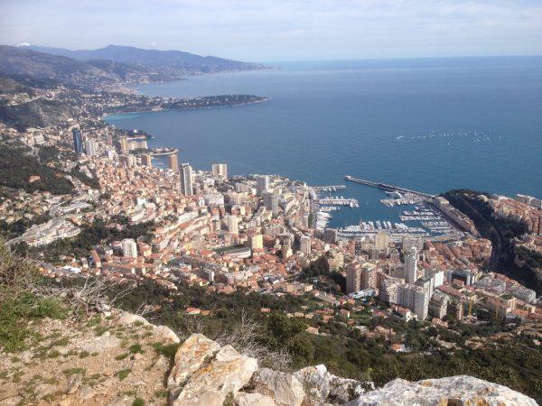 Monaco from La Turbie trail