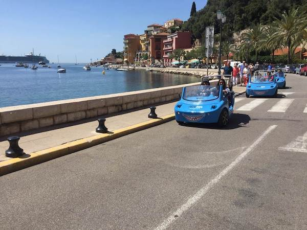 Electric car in Nice