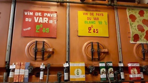 Price of wine at Caves Caprioglio