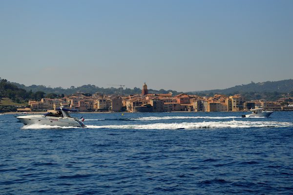 Beautiful St Tropez from a boat