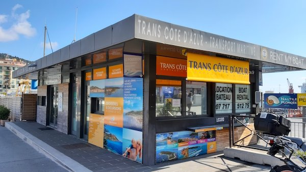 Trans Cote office where you buy tickets to St Tropez