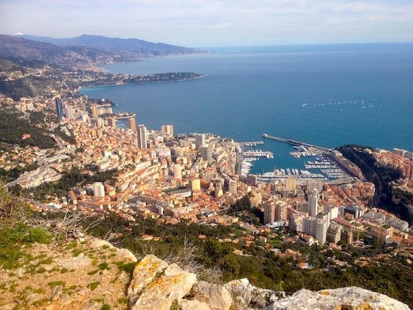 Views of Monaco from La Turbie
