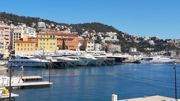 Yachts in Nice's Port