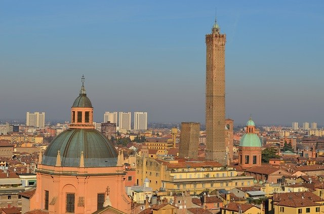 Bologna Italy from above