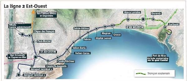Nice Tram map