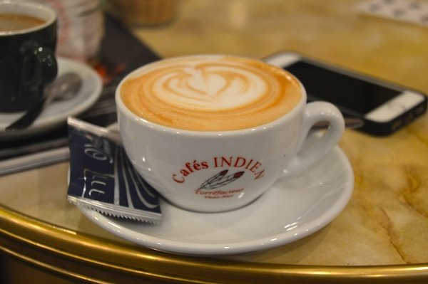 Cappuccino Cafe Indien
