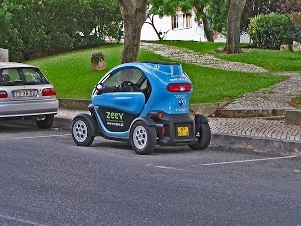 The cost of living in Nice France is cheaper with an Electric Twizy Car