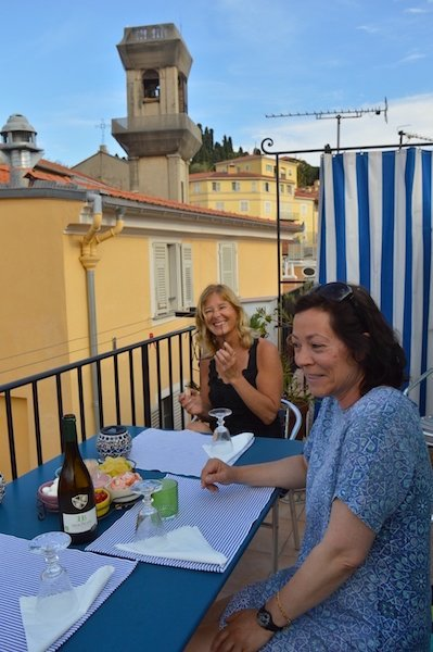 Friends on the Terrace in Old Town Nice