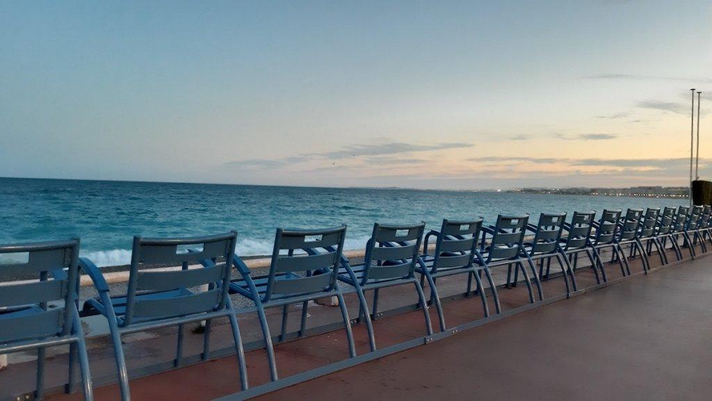 Promenade chairs in Nice