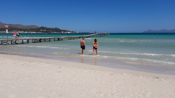 Lovely long beach in Alcudia