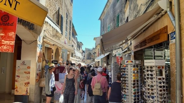 Streets of Alcudia are full on market day