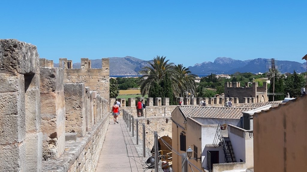 Medieval Rampart Walls in Alcudia Majorca