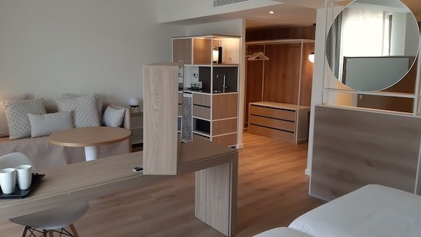 Interior of the Junior Suite at the Sol Melia Alcudia Beach