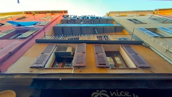 Views of apartment exteriors in Nice France