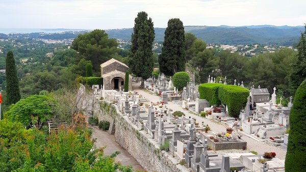 Views over St Paul de Vence Cemetery