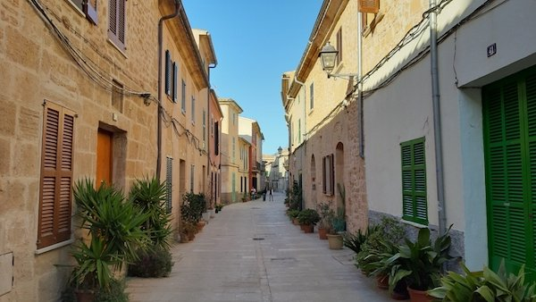 Traditional street in Alcudia Majorca