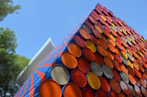 Christo and Jeanne-Claude at Fondation Maeght Barrels