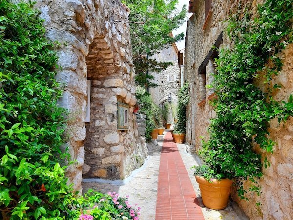 Street view in Eze Village