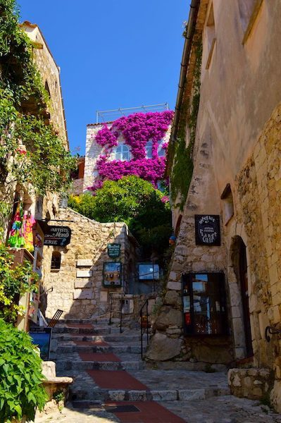 Quaint streets of Eze Village